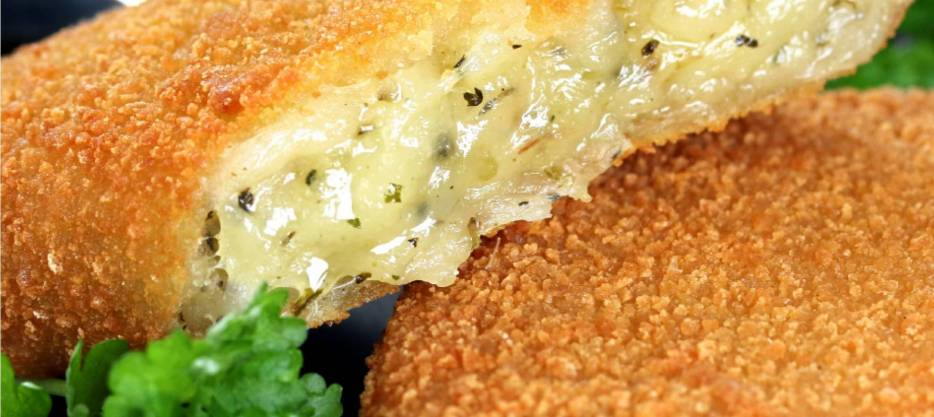 Breaded Cheese Patty with Herbs