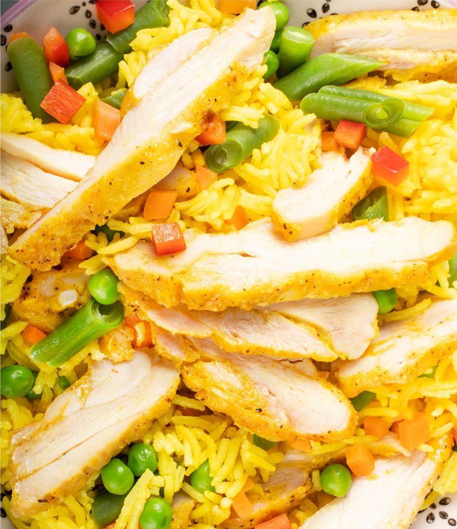 Curry Flavoured Sliced Chicken