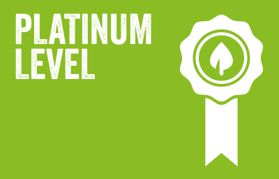 PLATINUM LEVEL Achieved top result for the sixth consecutive year in the Northern Ireland Environmental Benchmarking Survey underpinned by additional sites with ISO14001 Accreditation